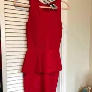 Bcbg bodycon dress in red